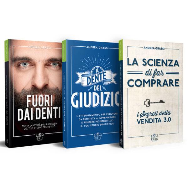 Libri sulla crescita personale: Ekis Edizioni. Fuori dai denti, Il dente del Giudizio e La Scienza di far comprare